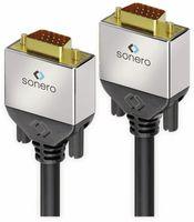 Vorschau: VGA-Anschlusskabel SONERO Premium, 1,5 m, Stecker/Stecker, Full-HD