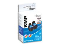 Vorschau: Tintenpatronen-Set KMP, kompatibel für 2x HP 56 (C6656AE), schwarz