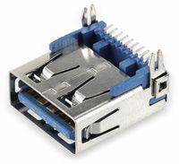 Vorschau: USB-3.0 A-Buchse SMT abgewinkelt, mit Halteklammern