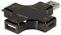 Vorschau: USB-Leistungsmessgerät LOGILINK PA0160, USB-C/USB-A/Micro-USB