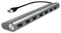 Vorschau: USB3.0-Hub LOGILINK UA0308, 7x USB-A, Aluminium