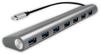 Vorschau: USB3.1 Typ-C Hub LOGILINK UA0310, 7x USB-A, Aluminium