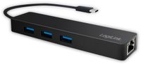 Vorschau: USB3.1 Typ-C Hub LOGILINK UA0313, 3x USB-A, RJ-45