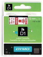 Vorschau: Beschriftungsband DYMO D1 für LabelManager, rot auf weiß, Standard