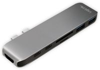 Vorschau: USB-C Hub LOGILINK UA0302, 7in1, PD, 100W, Aluminium
