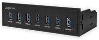 """Vorschau: USB3.0 Einbau-Hub LOGLINK UA0342, 7x USB-A, 5,25"""""""