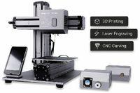 Vorschau: 3-in-1 3D Drucker, Laser, Fräse und Gehäuse