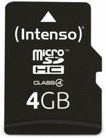 Vorschau: MicroSDHC Card, 4 GB, INTENSO