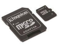 Vorschau: MicroSDHC Card, 4 GB, KINGSTON SDC10/4GB