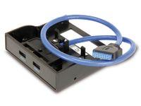 Vorschau: USB 3.0 Frontpanel, 2-port, schwarz