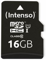 Vorschau: MicroSDHC Card INTENSO 3423470, UHS-I, 16 GB