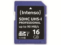 Vorschau: SDHC Card INTENSO 3431470, 16 GB, Class 10, UHS-I