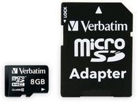 Vorschau: MicroSDHC Card VERBATIM Premium, 8 GB, Class 10, inkl. Adapter
