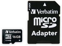 Vorschau: MicroSDHC Card VERBATIM Premium, 16 GB, Class 10, inkl. Adapter