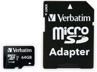 Vorschau: MicroSDXC Card VERBATIM Premium, 64 GB, Class 10, inkl. Adapter