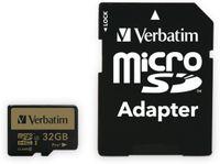 Vorschau: MicroSDHC Card VERBATIM Pro+, 32 GB, Class 10, inkl. Adapter