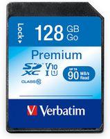 Vorschau: SDXC Card VERBATIM Premium, 128 GB, Class 10