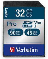Vorschau: SDHC Card VERBATIM Pro, 32 GB, Class 10