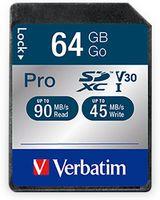 Vorschau: SDXC Card VERBATIM Pro, 64 GB, Class 10