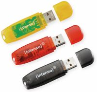Vorschau: USB 2.0 Stick INTENSO Rainbow Line, 16 GB, 3er Pack