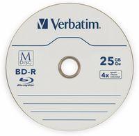 Vorschau: M-Disc VERBATIM BD-R, 25 GB, 25 Stück, Blau-weiß Oberfläche