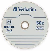 Vorschau: M-Disc VERBATIM BD-R, 50 GB, 5 Stück, Blau-weiß Oberfläche