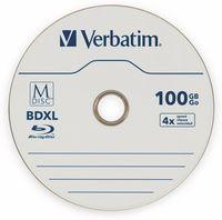 Vorschau: M-Disc VERBATIM BD-R, 100 GB, 1 Stück, Blau-weiß Oberfläche