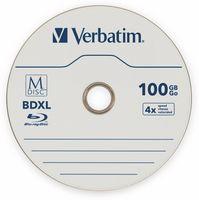 Vorschau: M-Disc VERBATIM BD-R, 100 GB, 5 Stück, Blau-weiß Oberfläche