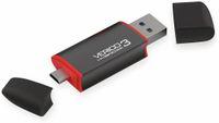 Vorschau: USB3.0 Stick VERICO Hybrid OTG, 128 GB, schwarz