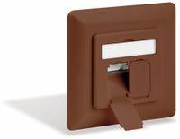Vorschau: CAT.6a Datendose KOMOS KDD 500, EA 8/8 (8), Unterputz, mit Abdeckplatte, perlweiß