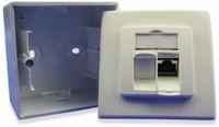 Vorschau: CAT.6a Datendose KOMOS KDD 500, EA 8/8 (8), Aufputz, perlweiß