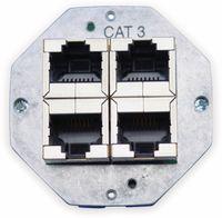 Vorschau: Einsatz für Datendose KOMOS 500, 8(4), CAT.3, 4x RJ-45