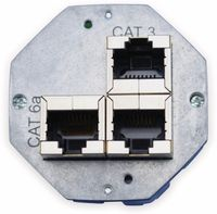 Vorschau: Einsatz für Datendose KOMOS 500, CAT.6a 8(8), 2x CAT.3 8(4)