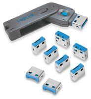 Vorschau: USB-Portschloss LogiLink AU0045, 1x Schlüssel, 8 Schlösser,