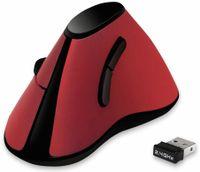 Vorschau: Ergonomic-Maus LOGILINK ID0159, Funk, vertical, rot