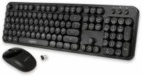 Vorschau: Funk Tastatur- und Maus-Set LOGLINK ID0178, Retro