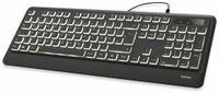 Vorschau: USB-Tastatur HAMA KC-550, Beleuchtet, schwarz