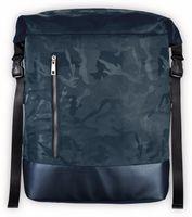 """Vorschau: Notebook-Rucksack HAMA Roll-Top, 15,6"""", Mission Camo, Navy Blue"""