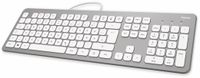 Vorschau: USB-Tastatur HAMA KC-700, Slim-Design, Scissor-Tasten, silber/weiß