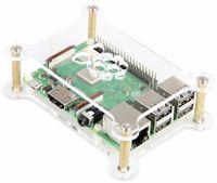 Vorschau: Raspberry Pi MakerCase 2 x Acryl Platten mit Kupfer Abstandhaltern