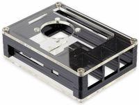 Vorschau: Acrylgehäuse transparent mit Lüfter und Kühlkörper für Raspberry Pi