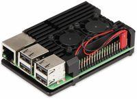 """Vorschau: JOY-IT Armor Gehäuse """"Block"""" für Raspberry Pi 3, Alu, Lüfter, schwarz"""