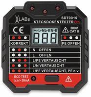 Vorschau: SDT0015: VA-LABs Steckdosentester mit RCD-Prüfung und LCD