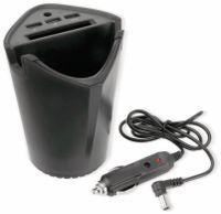 Vorschau: KFZ-Autobecherhalterung ALLRIDE, 3x USB, schwarz
