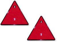 Vorschau: Dreieck-Reflektor-Set, rot, 2 Stück