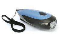 Vorschau: Dynamo-LED-Taschenlampe, 3 LEDs, verschiedene Farben