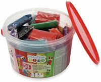 Vorschau: Kinder-Knetmasse-Eimer, 1,5 kg, 30 Knetmasse-Stücke
