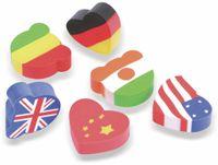 Vorschau: Radiergummi Flaggen, 6 Stück