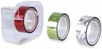 Vorschau: Metallic-Klebeband 4er-Pack, 3x Klebeband 5mx15mm, 1x Abroller