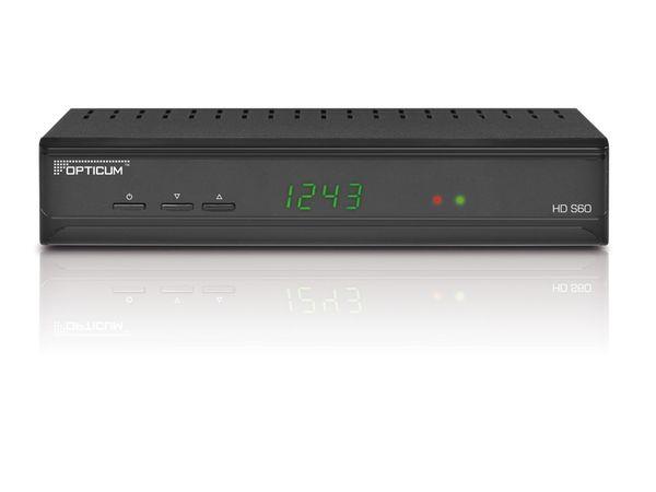 SAT HDTV-Receiver mit Mediaplayer OPTICUM HD S60, B-Ware